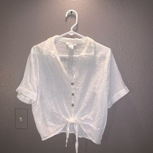 Tops - White tied shirt